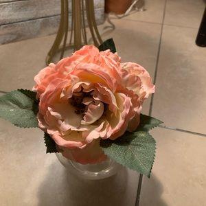 Faux peachy florals